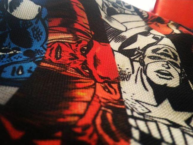 Clicking random shots with a friend @suryanshtiwari27 Marvel Bag RedSkull Captain_america