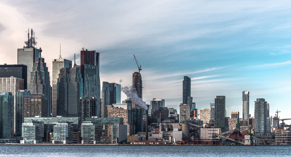 Architecture Building Exterior Business City City Life Cityscape Cloud - Sky Day Development Downtown District Financial District  Illuminated Modern No People Outdoors Sky Skyscraper Sunset The6ix Toronto Toronto Landscape Toronto Skyline Check This Out