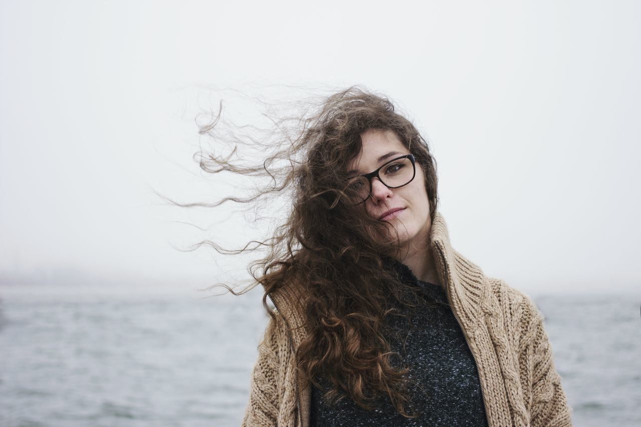 Beauty Blue Confidence  Eyeglasses  Frizzy Glasses Lake Long Hair Looking At Camera Magical Nature People Portrait Sailor Sea Serbia Sky Smiling Tangled Hair Travel Water Wind Windy Young Adult Young Women