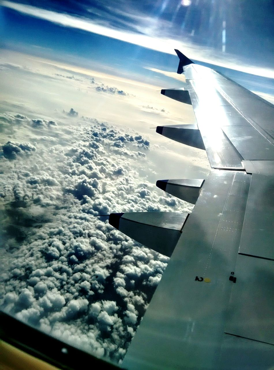 Bubble in the clouds Planewindowview Windowandclouds Clouds Aeroplanes Aeroplanewing