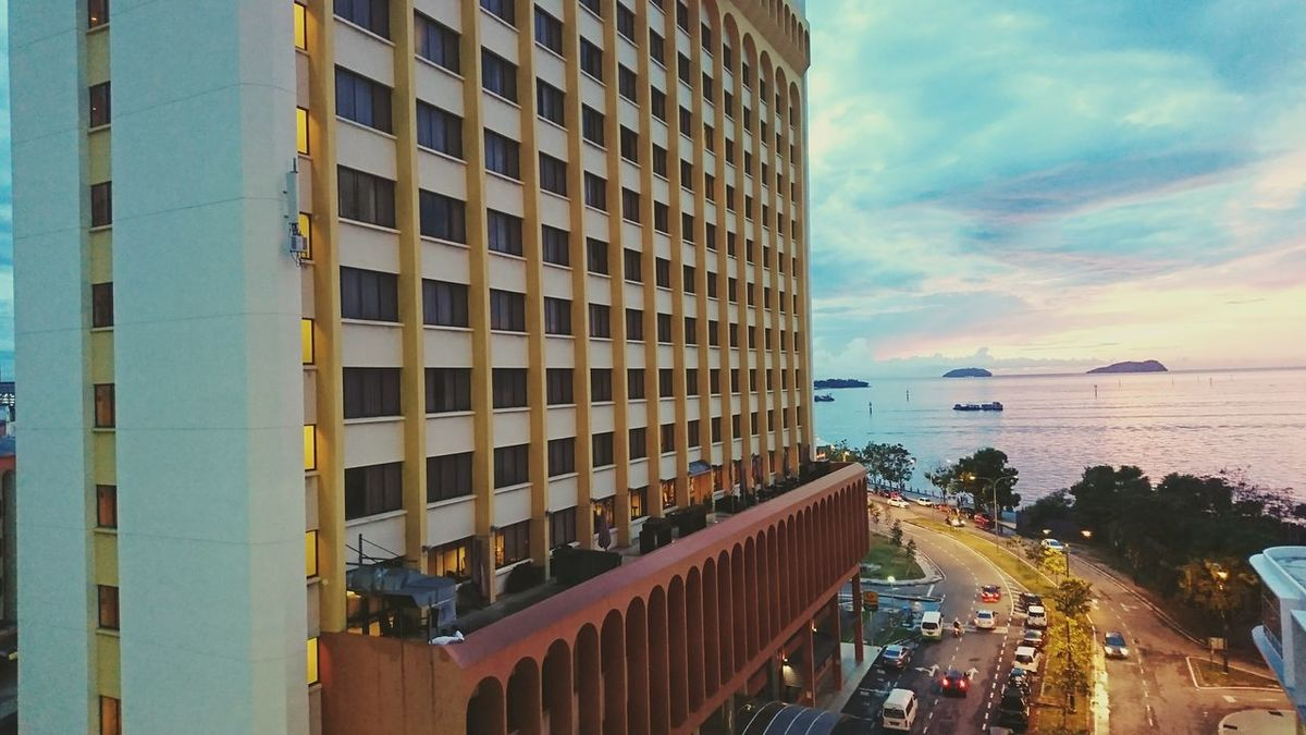 City Architecture Built Structure Skyscraper Water Sky Sea Cityscape Adapted To The City Xperiaphotography Sabah Malaysia Kota Kinabalu City Night Photography Xperia XZ Photography Sabah Below The Wind