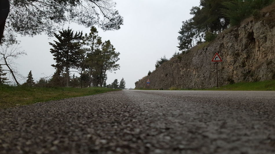 Road Road Sign Trip Nature Outdoors Asphalt Landscape No People Grey Skies Trees And Nature Travel Travel In Italy Campania Matese