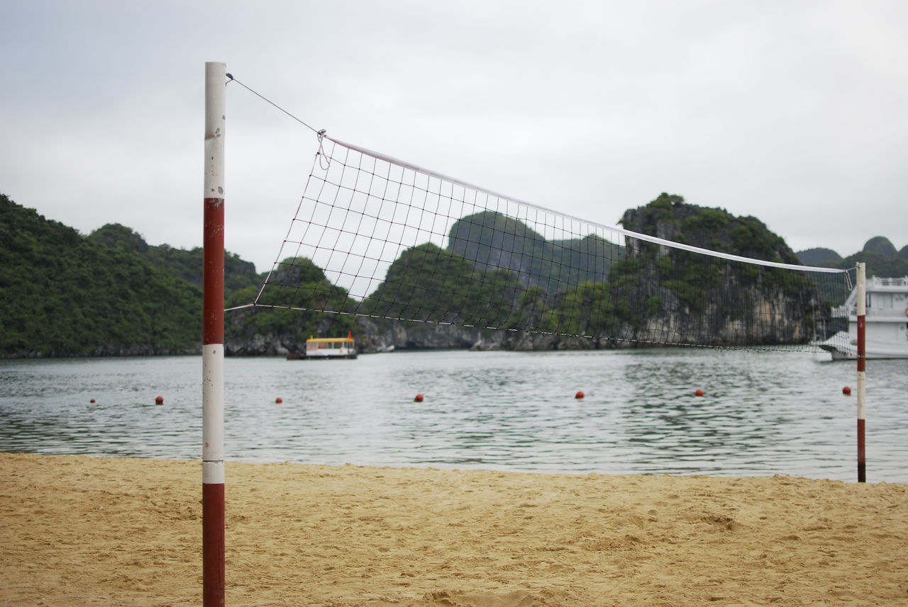 Beach Beauty In Nature Calm Halong Halong Bay Vietnam Net Non-urban Scene Outdoors Scenics Shore Sky Sport Tranquility Vietnam Vietnamese Volleyball Water