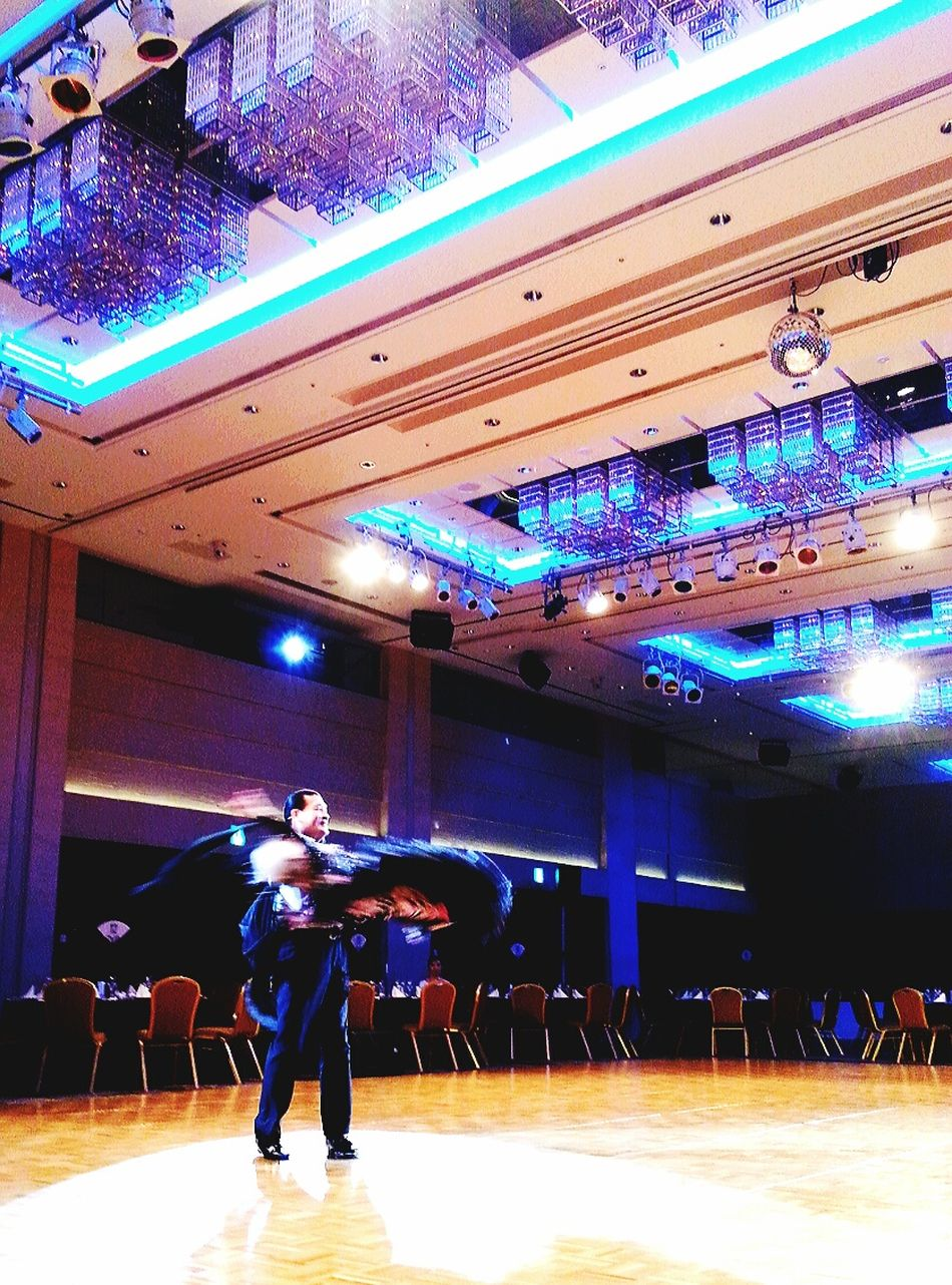 Ballroomdancing Oldlady Banquet Round And Round