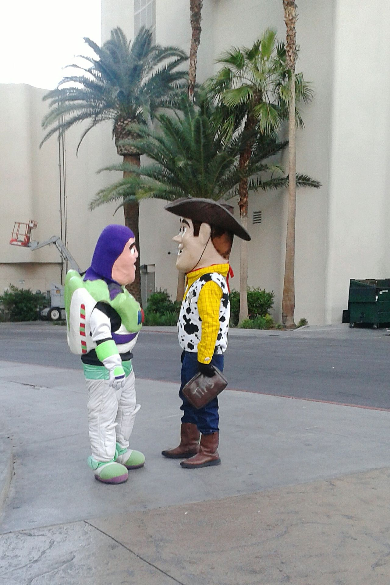 Hi buddy! How is it going todady? Everyday Emotion Lasvegas Boulevard Las Vegas Toystory Street Photography The Street Photographer - 2016 EyeEm Awards Feel The Journey Original Experiences People Together Two Is Better Than One Enjoy The New Normal