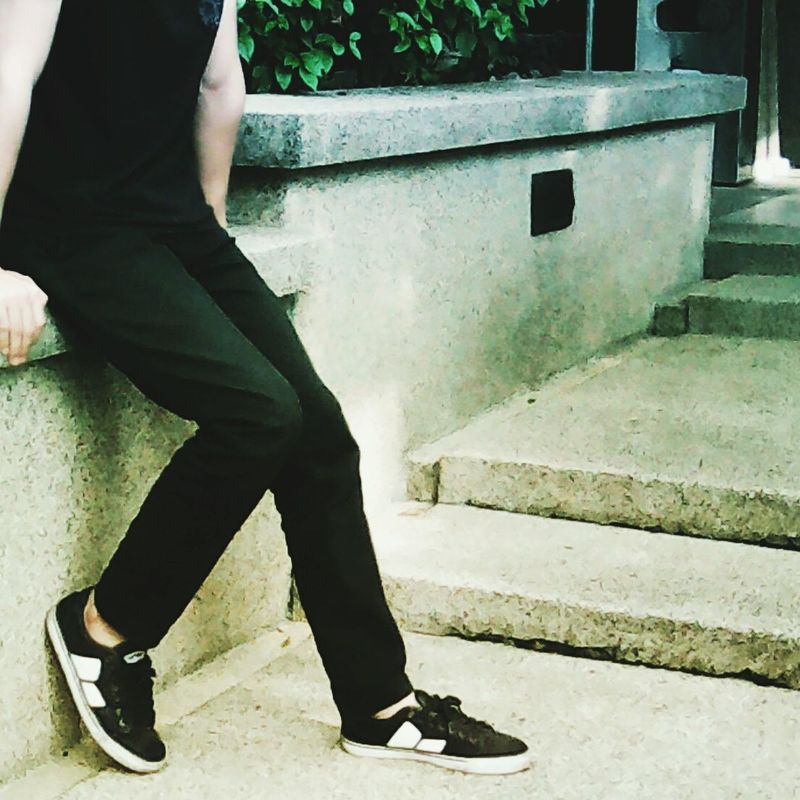 To speak or to keep silent Outdoors MacbethFootwear MacbethMalaysia Macbeth Macbethindonesia Human Leg Photography Shoes Sneaker Footwear Only Men People Day Black And White Black Color First Eyeem Photo