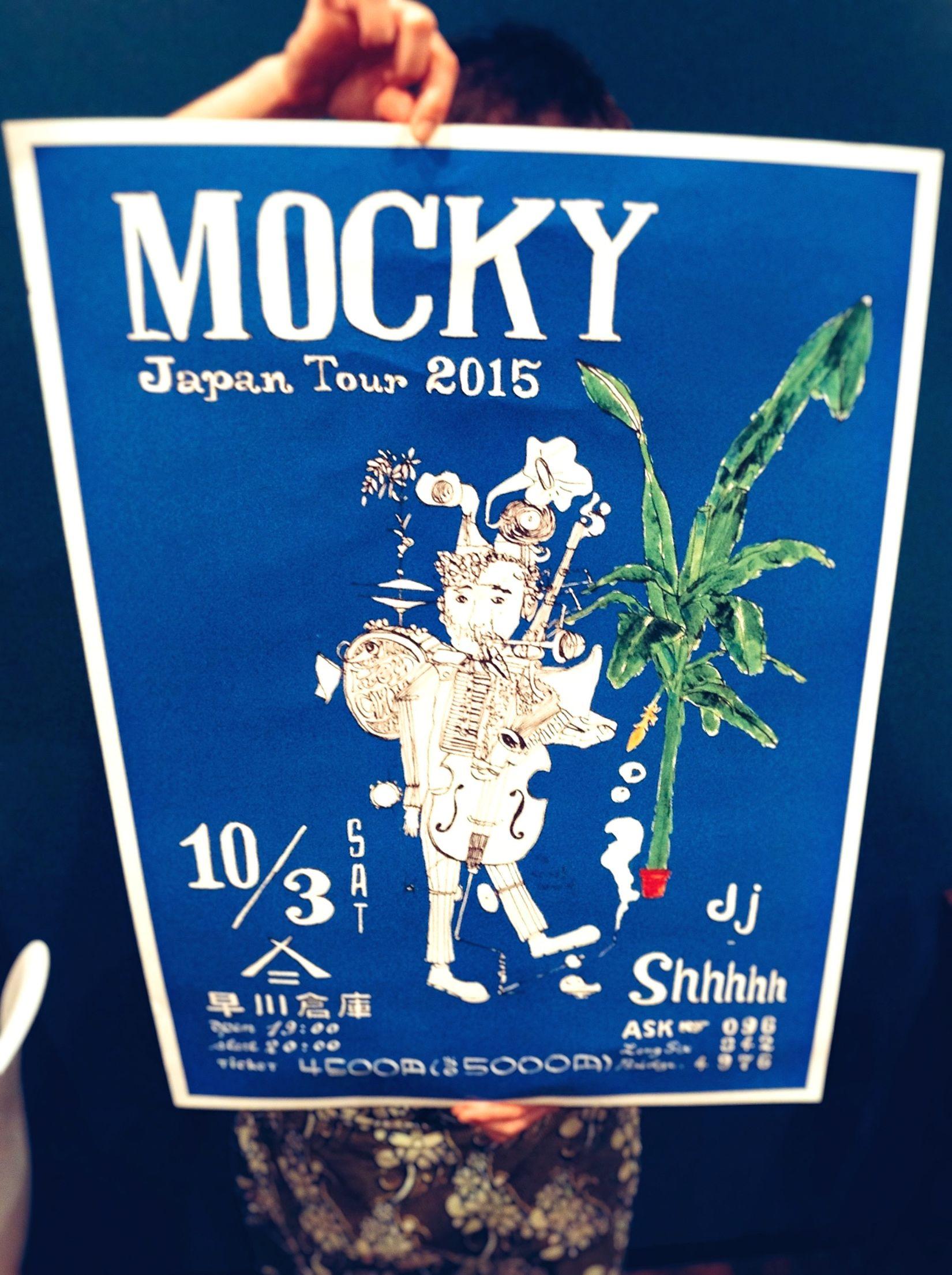 Poster Mocky Japan Enjoying Life Music IPhoneography Blue