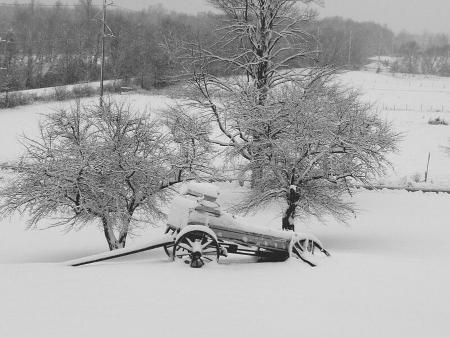 Vermont_scenery Vermont Wagon  Snow ❄ Wagonwheels Snowcovered