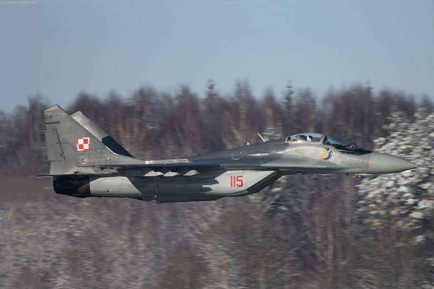 Aerospace Industry Air Vehicle Airplane Day Fighter Fighter Jet Fighter Plane Flying Mig-29 Mikoyan I Gurevich Mikoyan Mig-29 Military Military Airplane No People Outdoors Sky Snow Trees Winter