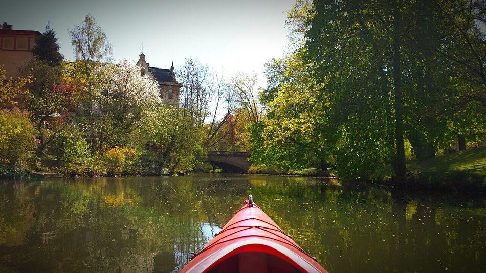 Another perspective Canoe Canoeing Oker River Brunswick Braunschweig Bridge