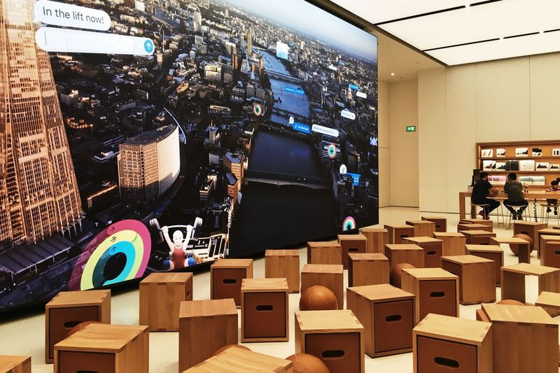 Apple Store, Dubai, UAE Apple Apple Shop Apple Store Apple Store Dubai Architecture Arts Culture And Entertainment Day Film Industry Indoor Photography Indoors  Indoors  IWatch IWatch Apple No People Real People Real People Photography Shop Speaker Standing Store Stores Technology