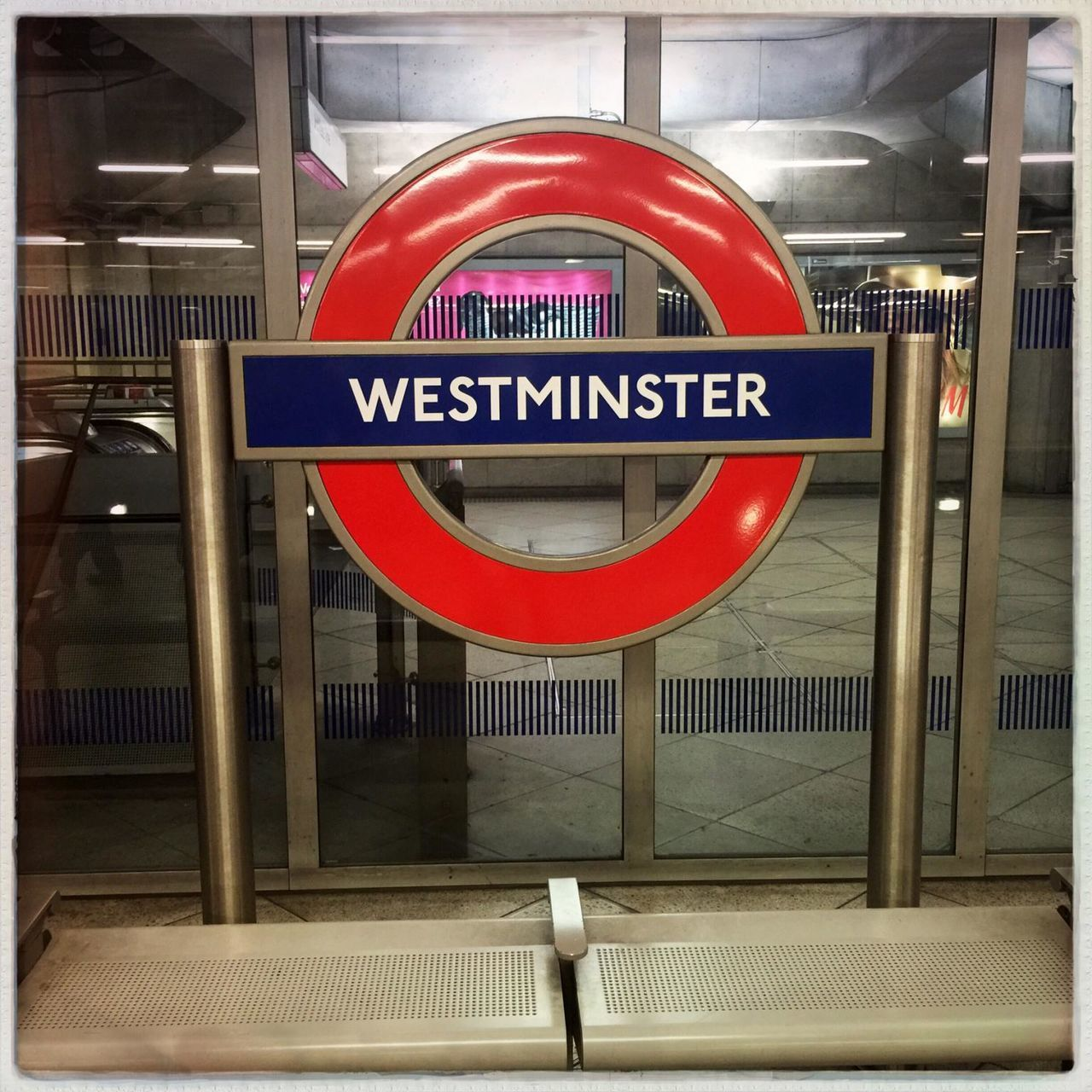 Communication Geometry Guidance Information Information Sign London Metal Non-western Script Railing Road Sign Sign Staircase Steps Steps And Staircases Subway Symbol Symmetry Text Underground Vertical Symmetry Wall Western Script Westminster Westminster Subway