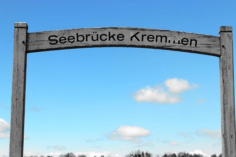 Blue Blue Sky Bridge Close-up Cloud Cloud - Sky Clouds And Sky Day Kremmen Kremmen In Brandenburg Kremmenersee Low Angle View Nature No People Outdoors Sky Spring