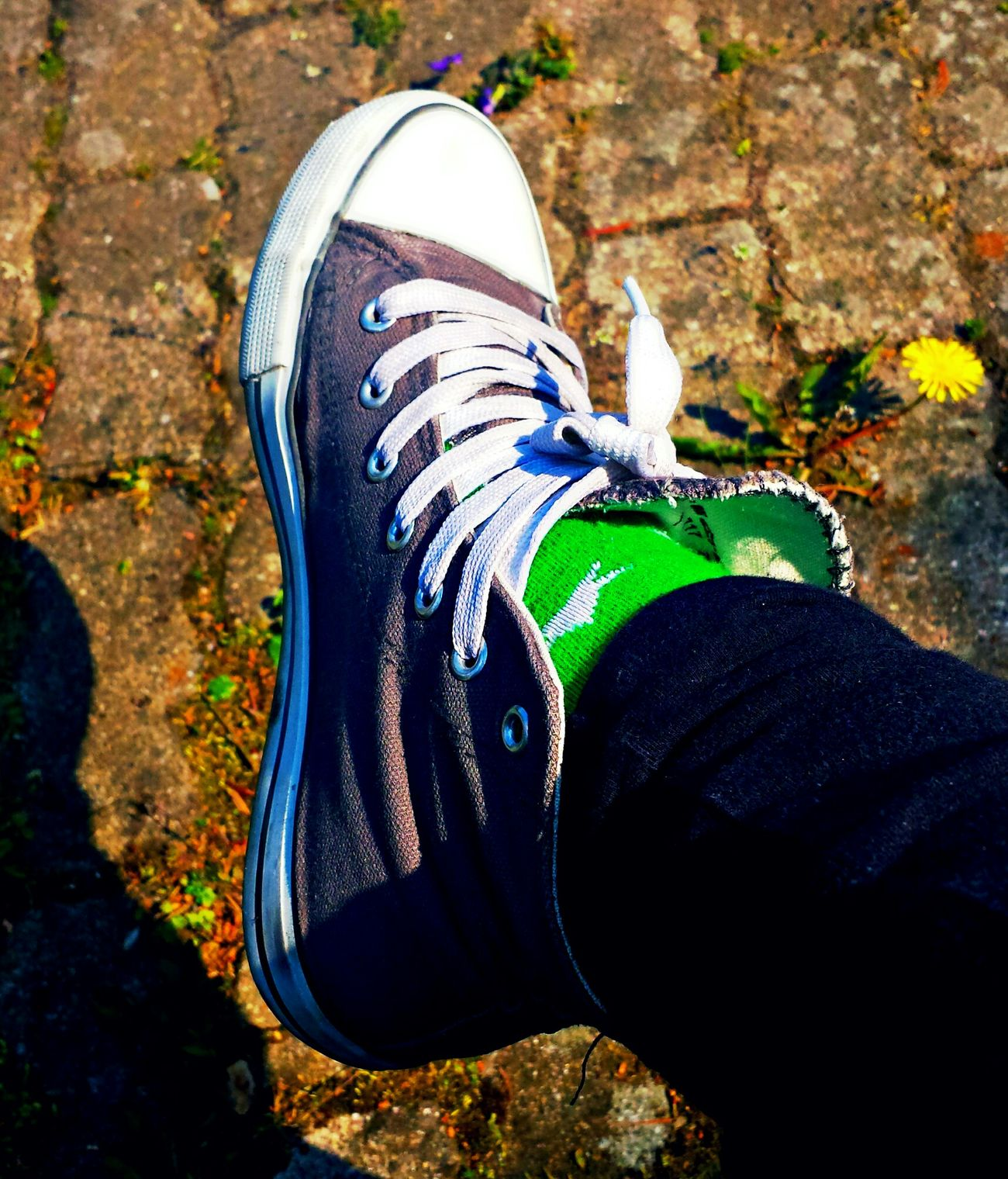 One Person Lifestyles Shoe Close-up Sneaker SneakerPorn Green Socks Style Shoe Shoeselfie ShoePorn I Love Shoes I Love Sneaker Eyemphotography Followme Eye4photography  Picoftheday EyeEmBestEdits EyeEm Best Shots Human Leg
