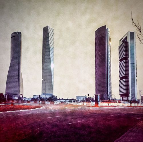 Four Towers Business Area. Madrid 2015. Diego López Calvín Solarigrafia Solargraph Solarigraphy Sky Long Exposure solargraphy Infrared Mars Marte