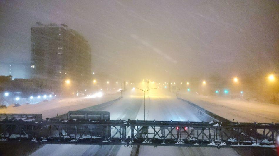 NYC Highway Snow Nyc Under Snow Snow City Snow Day SNOW NIGHT Snow ❄ Black And Snow Tri Boro Bridge White Wintertime Snow Take Over Nyc