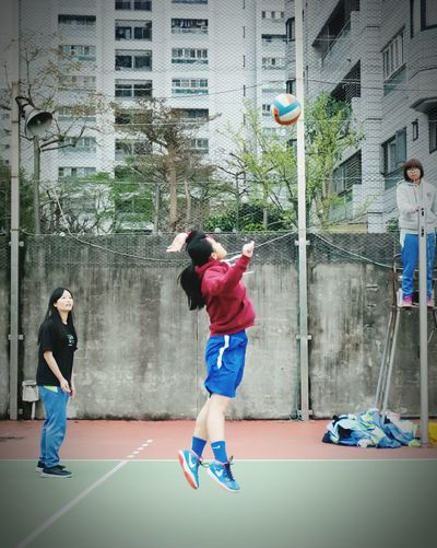 Sports Photography School Life  Young Excercise Time People Photography Wuling Sport Eyeemsports Athlete People Excercise Volleyball Jump Girl