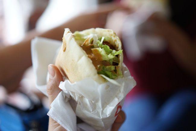 Schawarma Streetfood Halloumi Falafel Fast Food Sandwich
