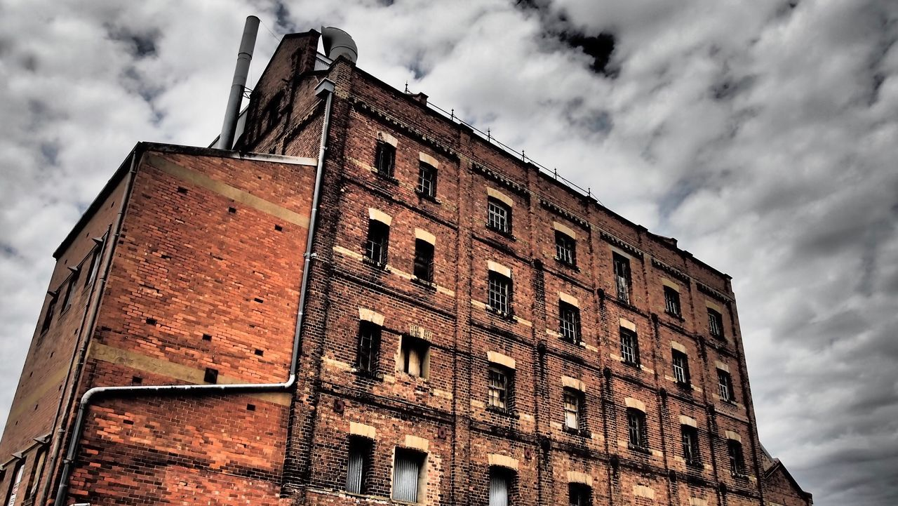 Old wool shed port Adelaide Building Exterior Architecture Low Angle View Built Structure Cloud - Sky Outdoors No People Sky Day Old Buildings Old Building Exterior Old Ruin Old Architecture Brick Building Brickporn