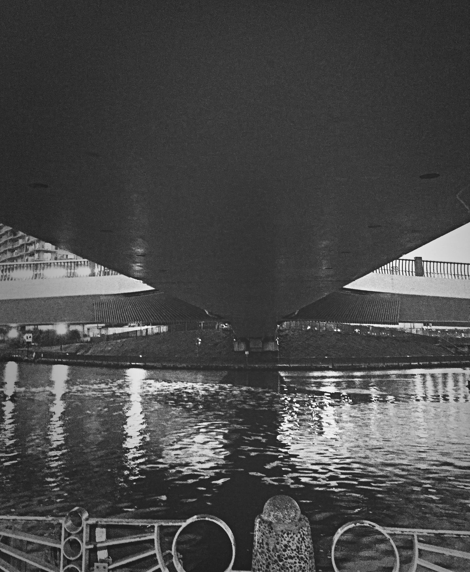 Black And White View Tokyo,Japan River View