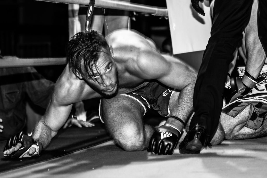 Stand Up... UFC MMA Champ Mickael Lebout... Focused. UFC MMA Mixed Martial Arts Boxing Fight Portrait Black & White Fitness Workout Athlete Eye Of The Tiger Streetphotography Uniqueness Resist TCPM The Photojournalist - 2017 EyeEm Awards