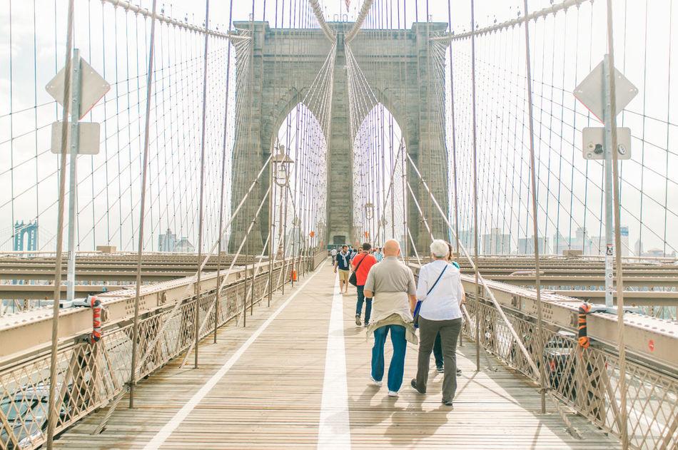 Beautiful stock photos of new york, Architecture, Bonding, Bridge - Man Made Structure, Brooklyn Bridge