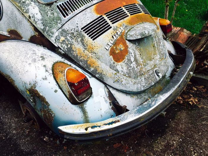 Close-up Day Deterioration Dirty Discard Elevated View Käfer Nature No People Old Outdoors Run-down Volkswagen VW VW Beetle MeinAutomoment