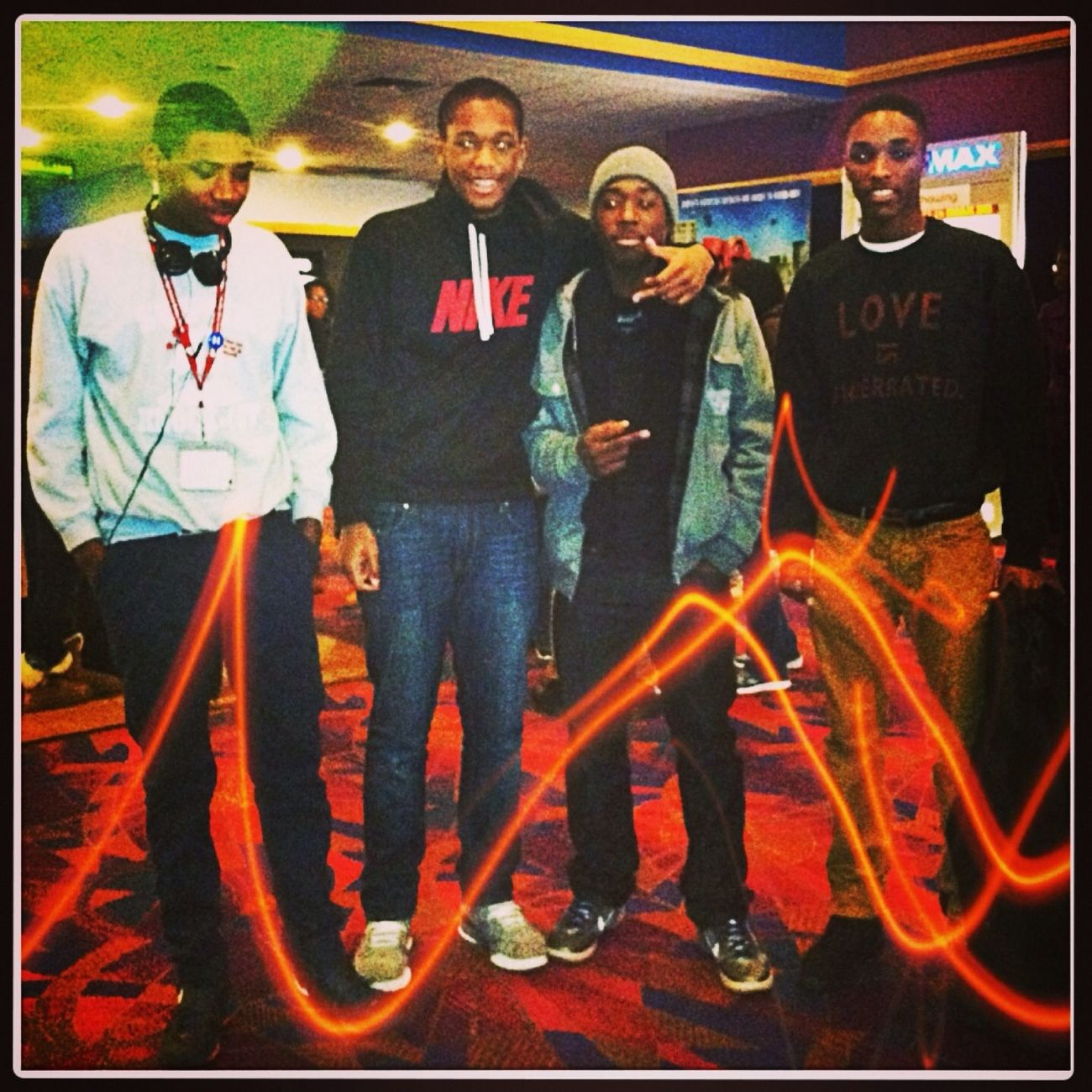 At The Movies Earlier With My Niggas