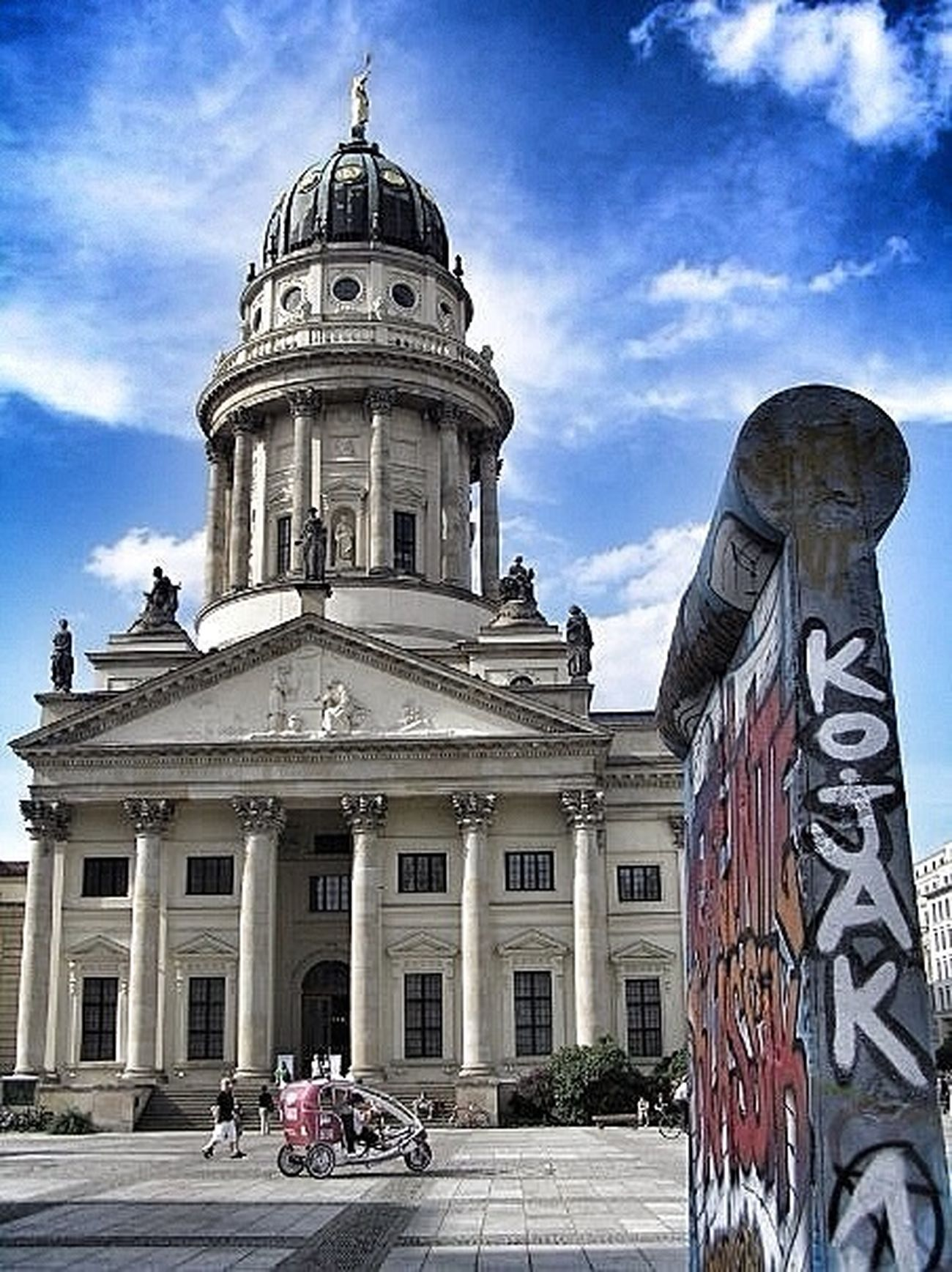 Berlin Berlin Wall At Gendarmenmarkt