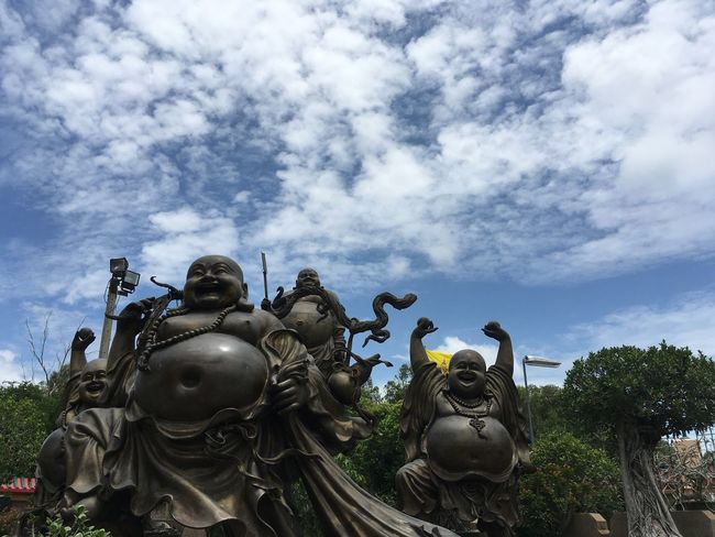 What a great piece of work! Laughing Buddha With Swords 4 Sculptures Fine Art Photography Travel Photography at Viharnra Sien in Thailand Terrific Thailand