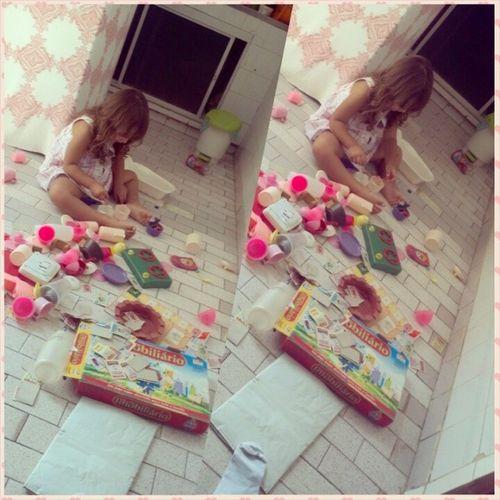 Minha princesa <3 Brincando