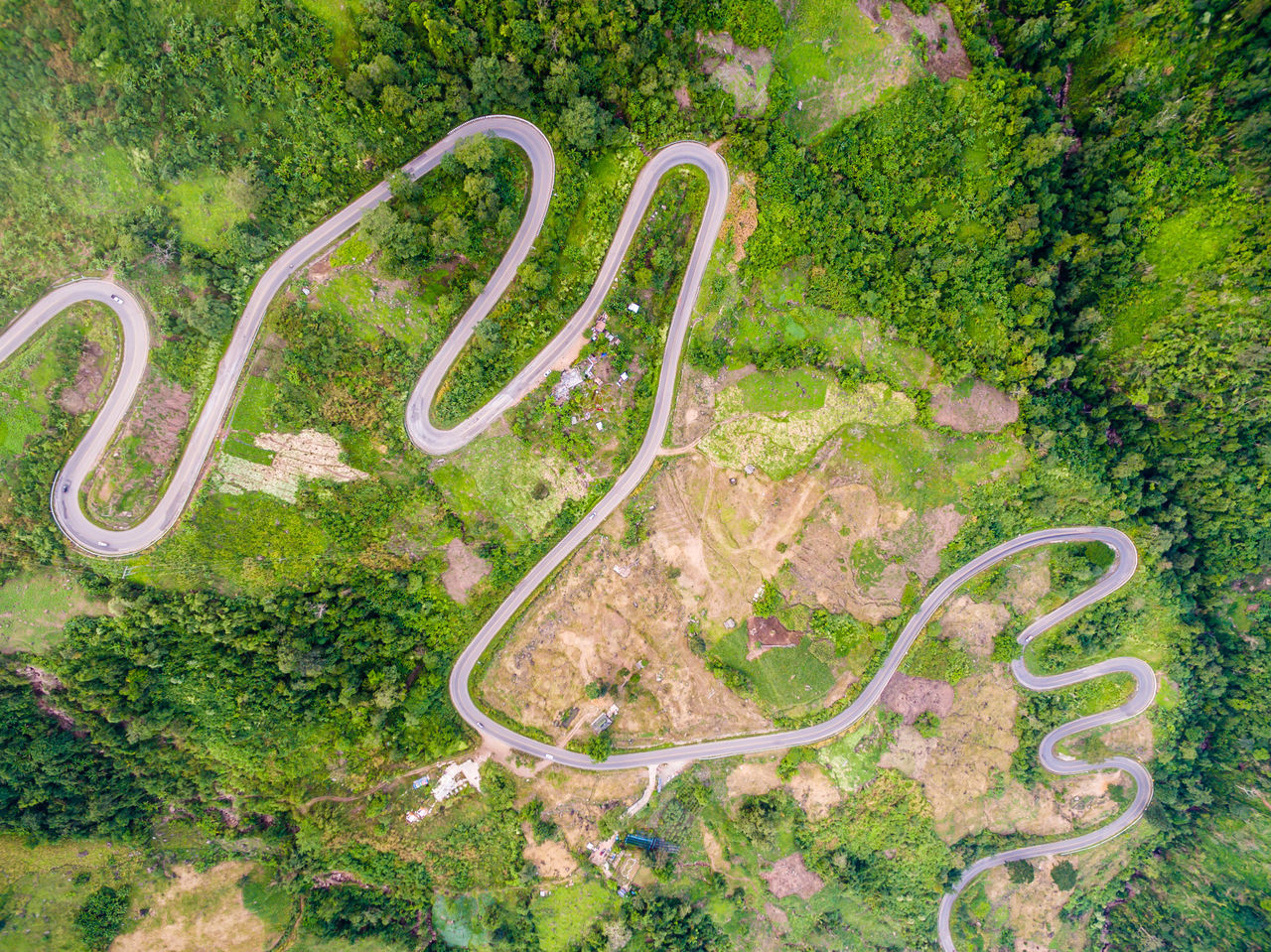 Aerial View Curve Day Flying High High Angle View Nature No People Outdoors Scenics Winding Road