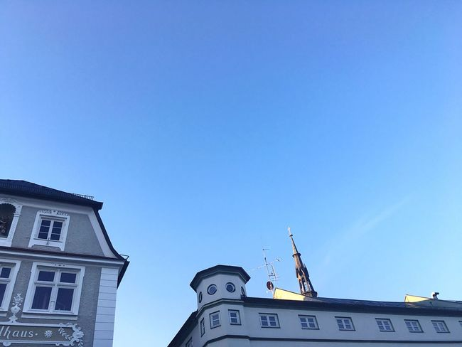 Bad Tölz Bavarian City Bavarian Architecture Architecture Colored Houses Colored Architecture Colored House Low Angle View Architecture Built Structure Building Exterior No People Residential Structure
