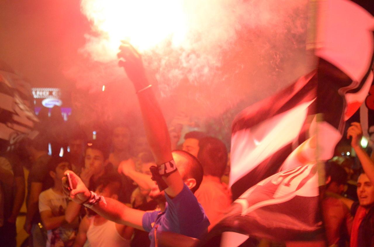 43 Golden Moments Besiktas Beşiktaş ❤ Beşiktaşk BJK Celebrating Celebration Celebration Event Champion Champions Crowd Enjoyment Flags Football Football Fever Fun Illuminated Large Group Of People Leisure Activity Lifestyles Night Outdoors Torch Torches Torchlight