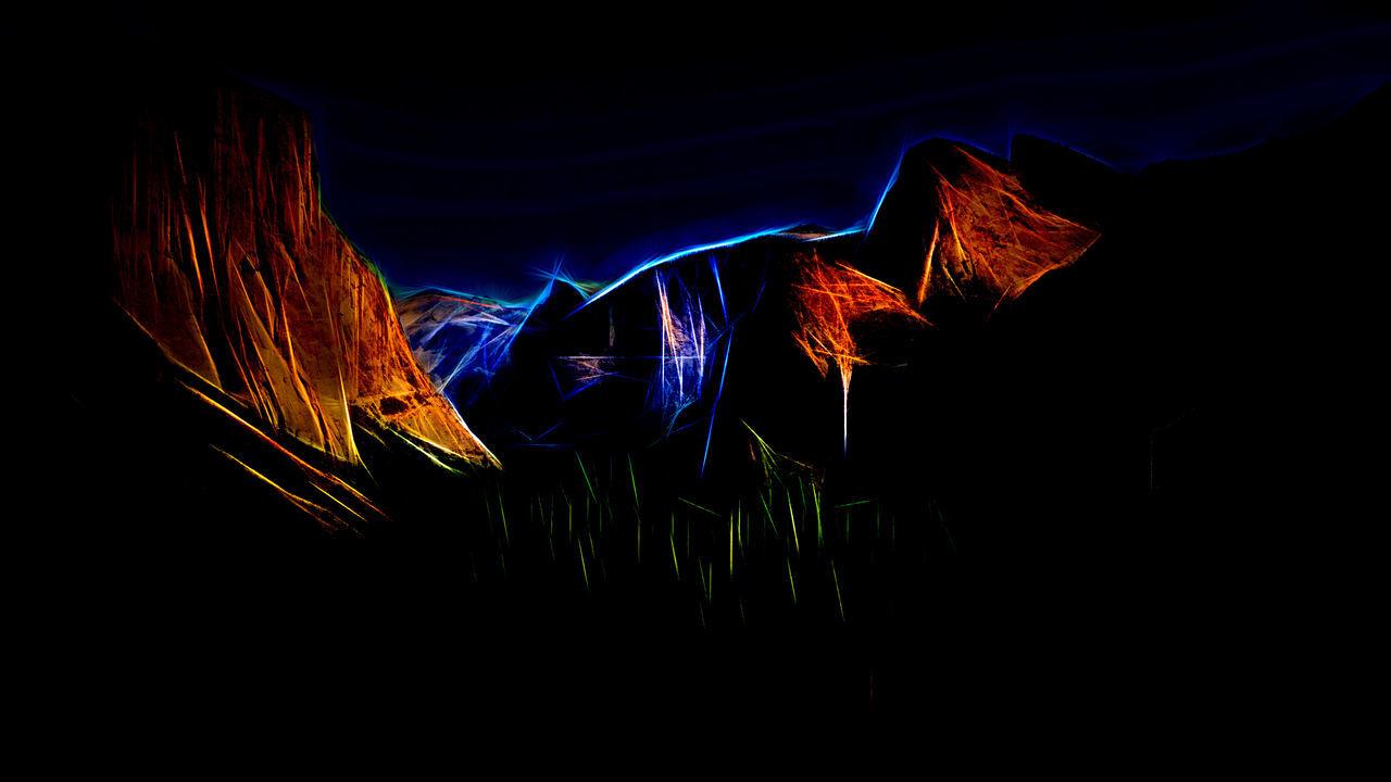 Abstract Art Illuminated Mountains Night No People Outdoors Sky Speed Topaz Glow