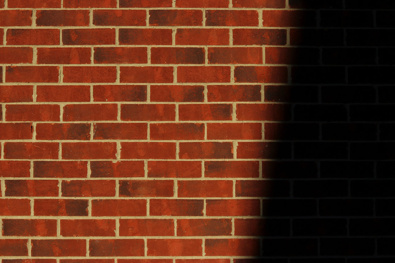 some brickwork Architecture Backgrounds Brick Wall Bricks Built Structure Canon Canon80d City City Life Close-up Day EyeEm EyeEm Best Shots EyeEm Gallery Full Frame Housing Settlement Lookatme Moody No People Outdoors Red Shadows Textured  Wall Wall - Building Feature