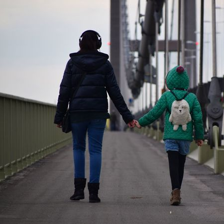 Two People Adult Warm Clothing Full Length People Day Outdoors Togetherness City Young Adult Hull2017 Girl Girls Walking Together Headphones Bridge Humber Bridge Height Of The Reeds Mother & Daughter City Of Culture 2017 Hull City Of Culture 2017 Hull 2017 Hull