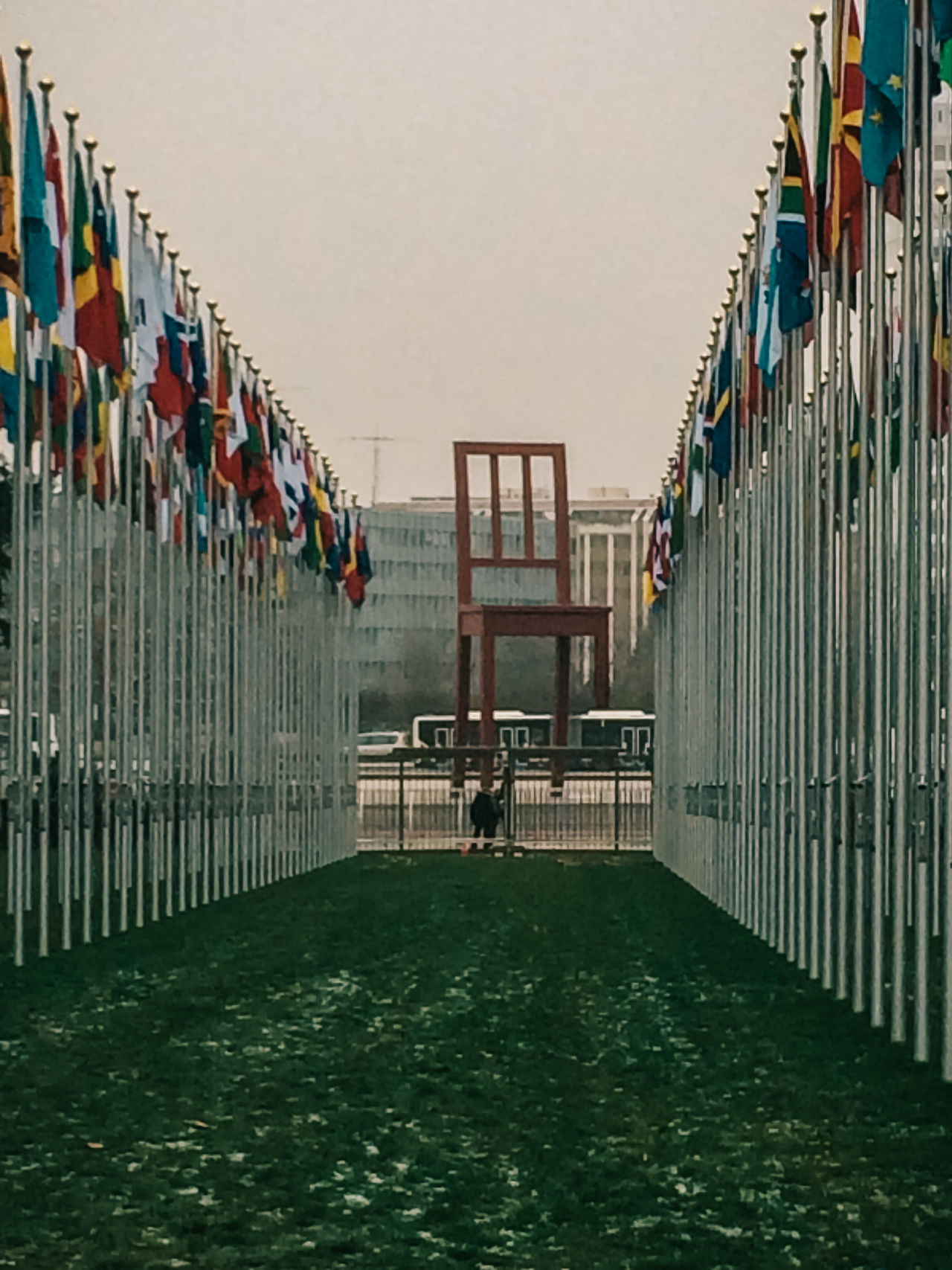 Architecture Chair Day Flag Geneva International Landmines No People Outdoors Sky Symbol Symbolism United Nations Water