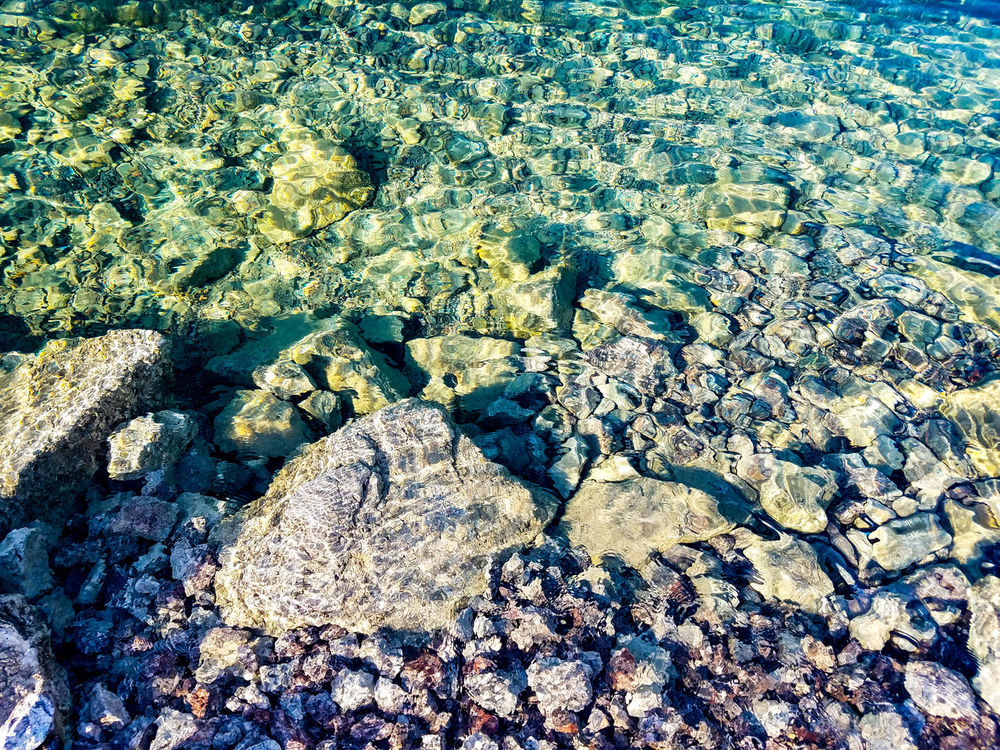 Full Frame Sunlight Backgrounds No People High Angle View Pattern Close-up Textured  Day Nature Outdoors Beauty In Nature River Rocks Clear River Water Clear Water Rough Rough Texture Rock Background Patterns In Nature Background Texture Rock Rocks Rocky Rock Patterns EyeEmNewHere