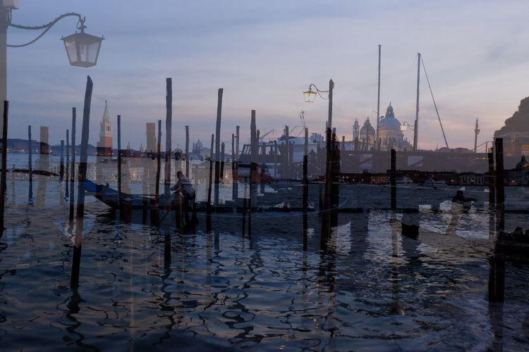 Trips Venise Venezia Venice Venezia Carnaval2016 Venice Carnivale Carnaval Gondola Water Reflections Water Impressionism Painting Art Gallery