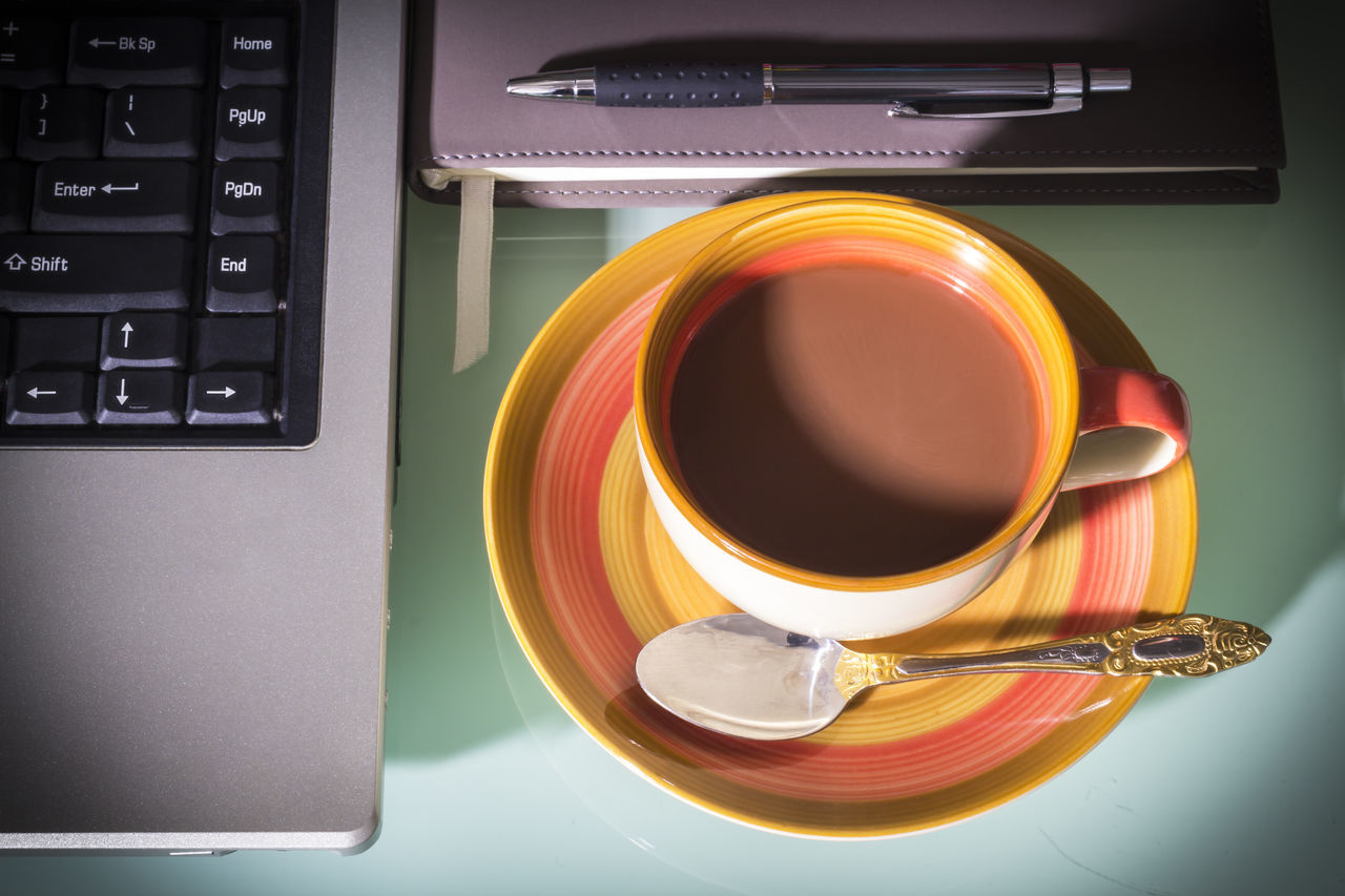 Coffee cup with laptop and pen on notebook Pen Background Book Business Cafe Caffeine Capucino Coffee Coffee Communication Cup Day Destop Diary Flower Keyboard Laptop Massage Morning Notebook Office Person Technology Work