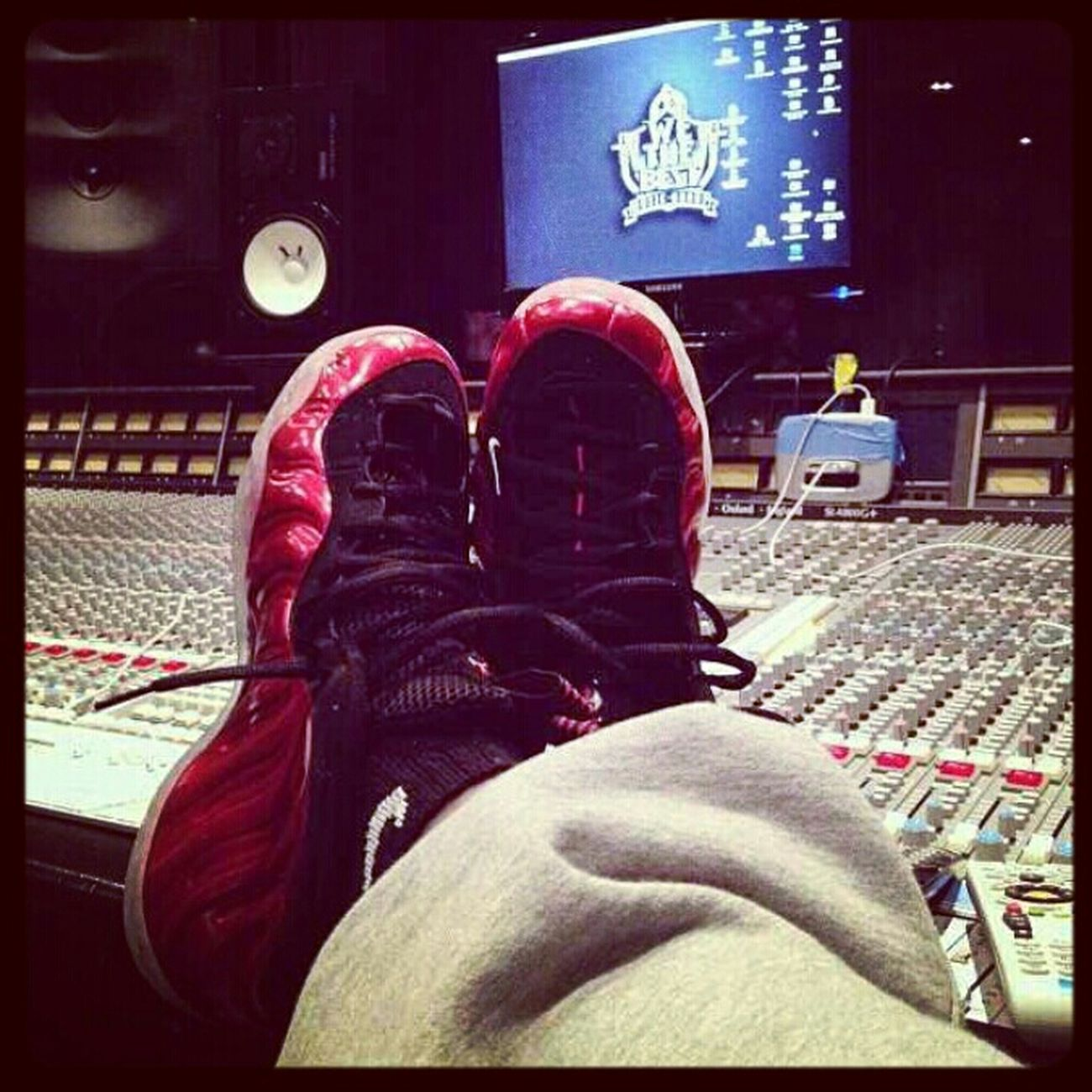 Had To Get Comfortable So I Through On The Joggy's Out The Whip #StudioTimes