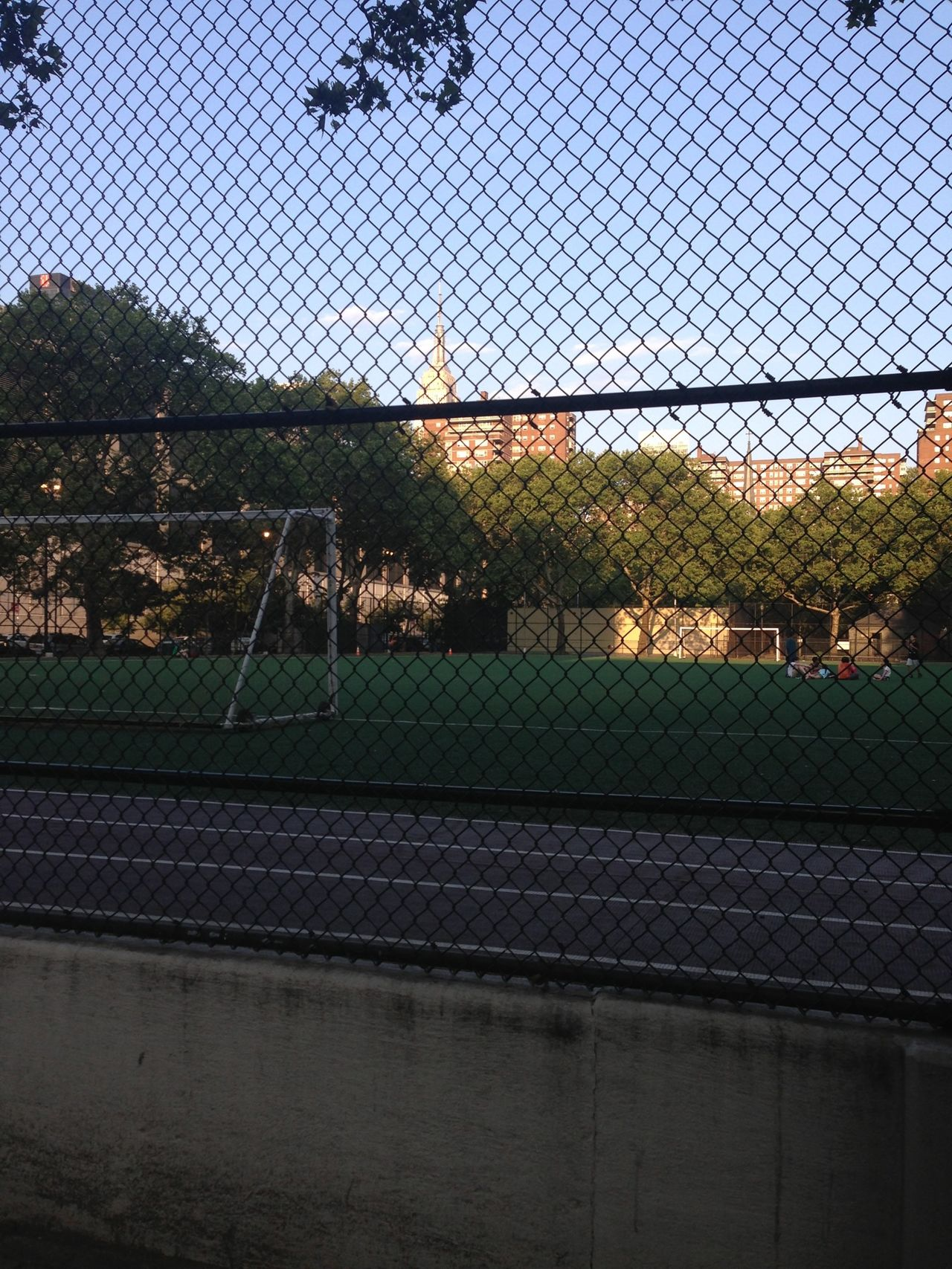 We Are Onefootball Soccer Field Pitch Playground NYC Summertime New York New York City Fence Playing