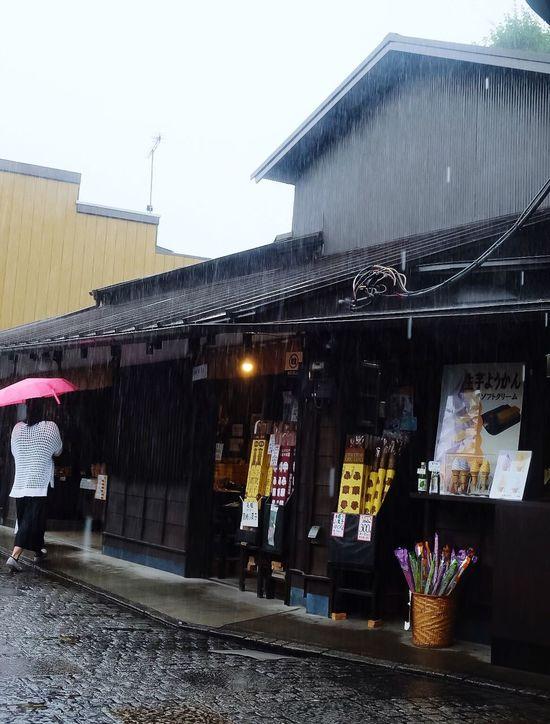 Raining Built Structure Architecture Old Town Historical Building Candy Shop Umbrella Red Rainy Days Rain Raining Rainy