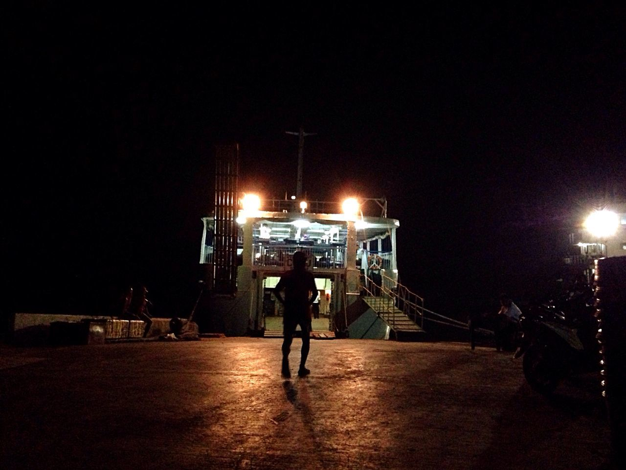 Follow the light to the ferry The Following Pierort] PierFerryboattGoing SailinggNight PhotographyyNight LightssSilhouetteeEyeem PhilippinessEyeEm NightscapeeEyeEm Night ShotssNight ShottMobile PhotographyyOlloclippThe Photojournalist - 2016 EyeEm Awardss