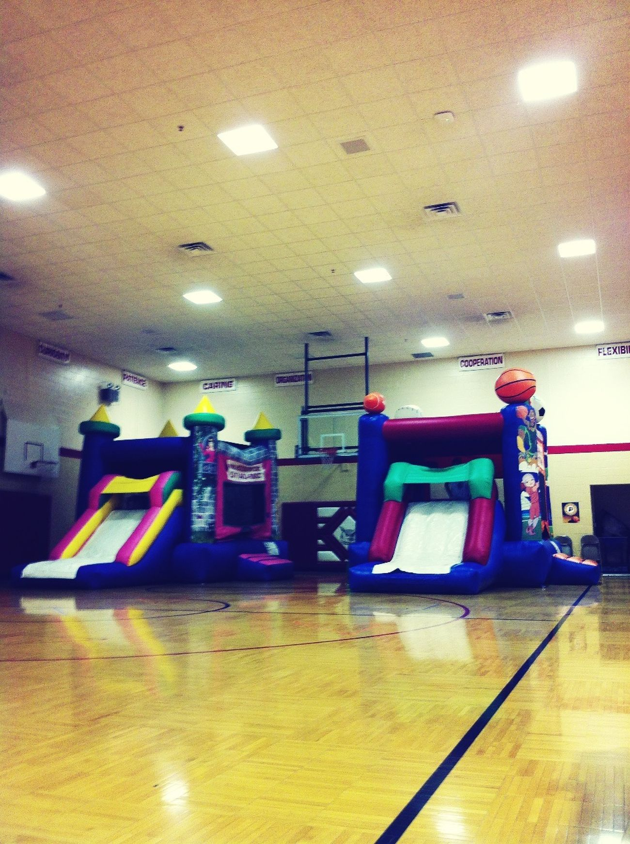 Two bounce houses be jealous!!!
