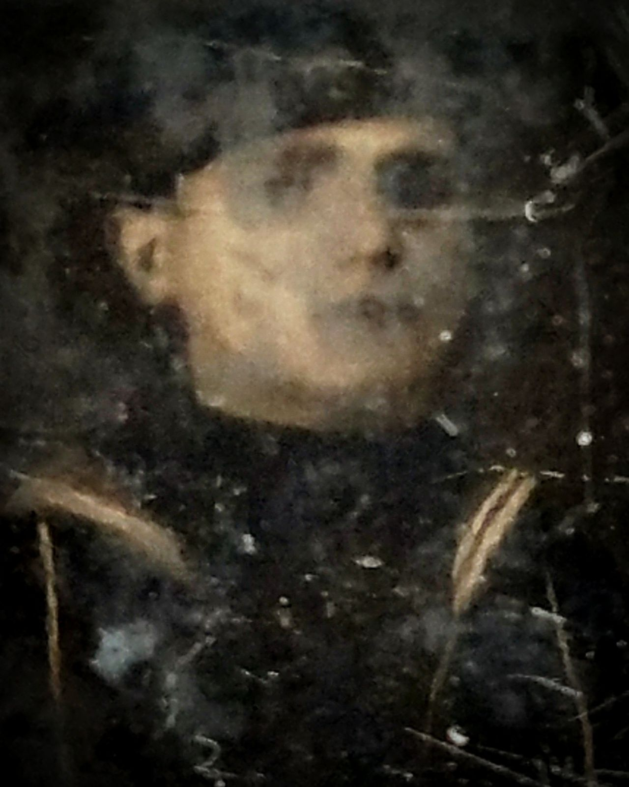 Abstract One Person People Adult Adults Only Close-up Day Dark Antique Photography Old Photo Old Photo Photograph Oddities Oddity Curiosity Ghostly Mysterious Apparition Eerie Eerie Beautiful Eerie Photos Ghost Ghostly Face Ghostly Apparition