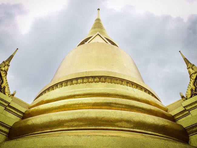 Architecture Buddhism Gold Gold Colored Low Angle View Temple Travel Destinations Wat Phra Khaeo