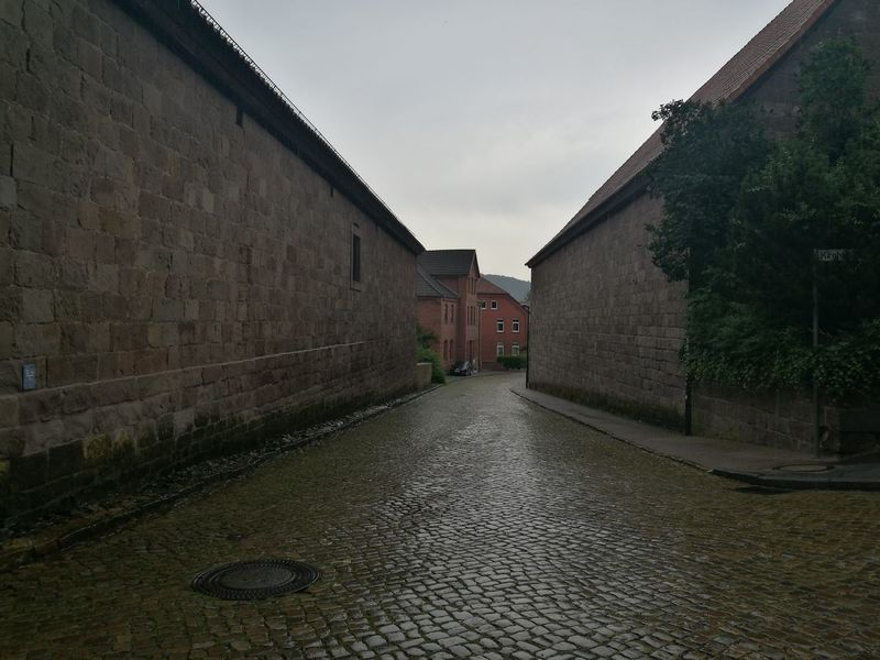 Alley Architecture Building Building Exterior Built Structure City Day Diminishing Perspective Empty Footpath Narrow No People Outdoors Sky The Way Forward Vanishing Point Walkway