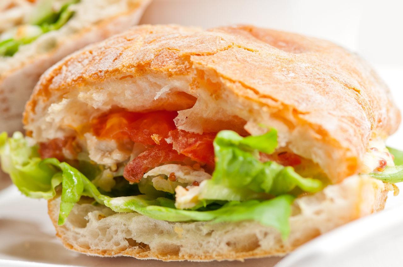 Detail Shot Of Sandwich